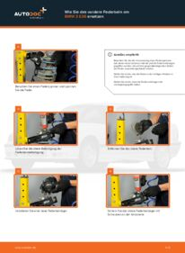 Wie der Wechsel durchführt wird: Domlager BMW E36 Compact 316i 1.6 316i 1.9 323ti 2.5 tauschen