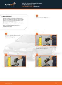 Wie der Wechsel durchführt wird: Stoßdämpfer Golf 3 Cabrio 1.8 2.0 1.6 tauschen
