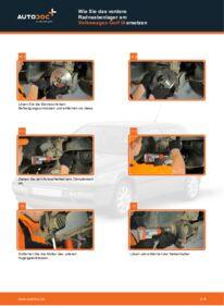 Wie der Wechsel durchführt wird: Radlager Golf 3 Cabrio 1.8 2.0 1.6 tauschen