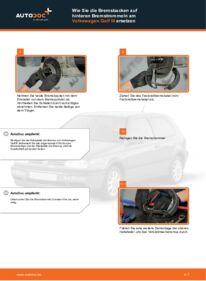 Wie der Wechsel durchführt wird: Bremsbacken Golf 3 Cabrio 1.8 2.0 1.6 tauschen