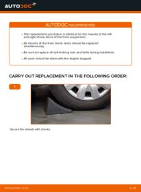 How to carry out replacement: Strut Mount on 1.4 TDCi Ford Fiesta V jh jd