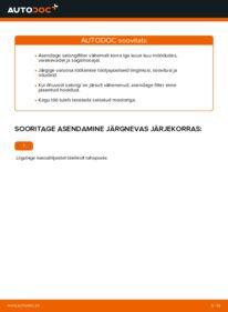 Kuidas välja vahetamist läbi viia: ML 270 CDI 2.7 (163.113) ML W163 Salongifilter