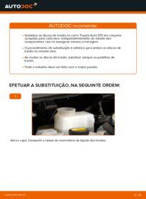 Como realizar a substituição de Discos de Travão no 1.4 D-4D (NDE150_) Toyota Auris e15