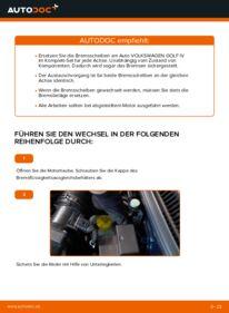 Wie der Wechsel durchführt wird: Bremsscheiben Golf 4 1.4 16V 1.6 1.6 16V tauschen