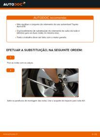 Como realizar a substituição de Rolamento da Roda no 1.4 D-4D (NDE150_) Toyota Auris e15