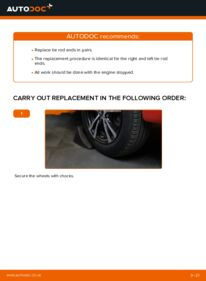 How to carry out replacement: Track Rod End on 1.0 PEUGEOT 107
