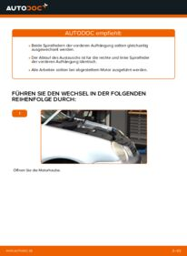 Wie der Wechsel durchführt wird: Federn Polo 9n 1.4 16V 1.2 12V 1.4 TDI tauschen