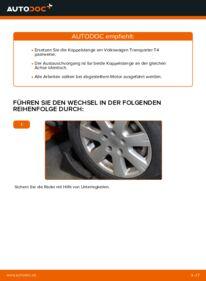 Wie der Wechsel durchführt wird: Koppelstange VW TRANSPORTER IV Bus (70XB, 70XC, 7DB, 7DW) 2.5 TDI 2.4 D 1.9 TD tauschen