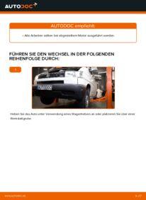 Wie der Wechsel durchführt wird: Motorlager VW TRANSPORTER IV Bus (70XB, 70XC, 7DB, 7DW) 2.5 TDI 2.4 D 1.9 TD tauschen