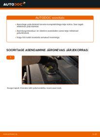 Kuidas välja vahetamist läbi viia: 3.0 TDI quattro Audi A6 4f2 Piduriklotsid