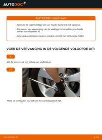 Vervangen: Wiellager 1.4 D-4D (NDE150_) Toyota Auris e15