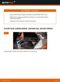 Kuidas välja vahetamist läbi viia: 3.0 TDI quattro Audi A6 4f2 Rattalaager
