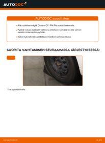 Kuinka vaihtaa Pyöränlaakerit 1.0 CITROËN C1 (PM_, PN_) -autoon