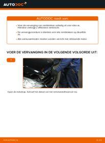 Vervanging uitvoeren: Remblokken A 180 CDI 2.0 (169.007, 169.307) Mercedes W169