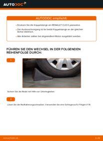 Wie der Wechsel durchführt wird: Koppelstange Renault Clio 2 1.2 1.2 16V 1.5 dCi tauschen