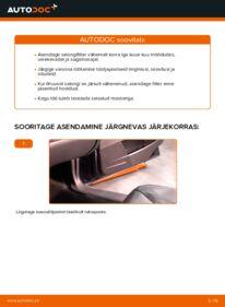 Kuidas välja vahetamist läbi viia: 2.4 Volvo V70 SW Salongifilter