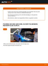 Wie der Wechsel durchführt wird: Bremsbeläge Peugeot 206 cc 2d 1.6 16V 2.0 S16 1.6 HDi 110 tauschen