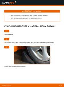 Ako vykonať výmenu: Rameno Zavesenia Kolies na 1.6 16V Peugeot 206 cc 2d