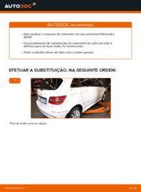 Como realizar a substituição de Rolamento da Roda no B 180 CDI 2.0 (245.207) Mercedes W245