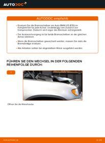 Wie der Wechsel durchführt wird: Bremsscheiben BMW E53 3.0 d 3.0 i 4.4 i tauschen