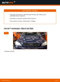 Kā veikt nomaiņu: 1.6 16V (F08, F48) Opel Astra g f48 Pamatluktura kvēlspuldze