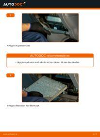Så byter du Kupefilter på 2.0 D 4WD (CLA20_, CLA21_) Toyota Rav4 II