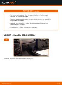 Kā veikt nomaiņu: 1.6 16V (F08, F48) Opel Astra g f48 Salona filtrs