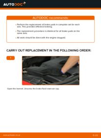 How to carry out replacement: Brake Pads on 2.0 16V Ford Mondeo bwy