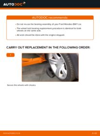 How to carry out replacement: Wheel Bearing on 2.0 16V Ford Mondeo bwy