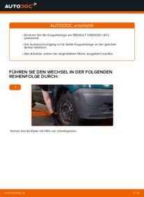 Wie der Wechsel durchführt wird: Koppelstange Renault Kangoo kc01 D 65 1.9 1.4 1.5 dCi tauschen