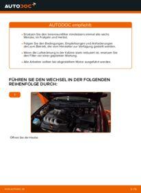 Wie der Wechsel durchführt wird: Innenraumfilter Audi A3 8l1 1.9 TDI 1.8 T 1.6 tauschen