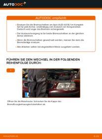 Wie der Wechsel durchführt wird: Bremsscheiben Audi A3 8l1 1.9 TDI 1.8 T 1.6 tauschen