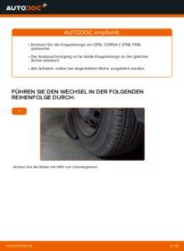 Wie der Wechsel durchführt wird: Koppelstange Opel Corsa C 1.2 (F08, F68) 1.0 (F08, F68) 1.3 CDTI (F08, F68) tauschen