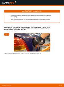 Wie der Wechsel durchführt wird: Kraftstofffilter Opel Astra g f48 1.6 16V (F08, F48) 1.6 (F08, F48) 1.4 16V (F08, F48) tauschen