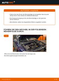 Wie der Wechsel durchführt wird: Bremsbeläge Opel Astra g f48 1.6 16V (F08, F48) 1.6 (F08, F48) 1.4 16V (F08, F48) tauschen