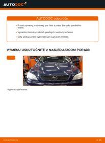 Ako vykonať výmenu: Žiarovka hlavného svetlometu na 1.6 16V (F08, F48) Opel Astra g f48