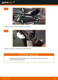 Jak provést výměnu: List stěrače na 1.6 RENAULT MEGANE II Saloon (LM0/1_)