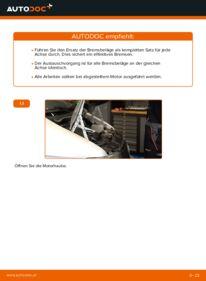 Wie der Austausch bewerkstelligt wird: Bremsbeläge beim 112 CDI 2.2 (638.194) Mercedes W638 Bus