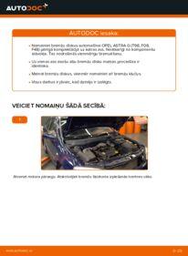 Kā veikt nomaiņu: 1.6 16V (F08, F48) Opel Astra g f48 Bremžu diski