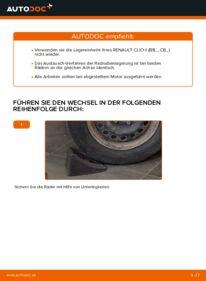 Wie der Wechsel durchführt wird: Radlager Renault Clio 2 1.2 1.2 16V 1.5 dCi tauschen
