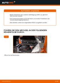 Wie der Wechsel durchführt wird: Stoßdämpfer Audi A6 4f2 3.0 TDI quattro 2.0 TDI 2.4 tauschen