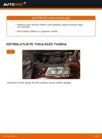 Kaip atlikti keitimą: 1.9 TDI Audi A3 8l1 Stabdžių apkaba