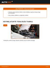 Kaip atlikti keitimą: 1.9 TDI VW Caddy 3 Universalas Stabdžių apkaba
