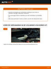 Vervanging uitvoeren: Remblokken 1.4 TDCi Ford Fiesta V jh jd