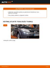 Kaip atlikti keitimą: 1.9 dCi Renault Scenic 2 Kuro filtras