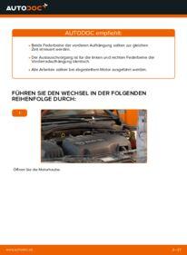 Wie der Wechsel durchführt wird: Stoßdämpfer Opel Corsa C 1.2 (F08, F68) 1.0 (F08, F68) 1.3 CDTI (F08, F68) tauschen