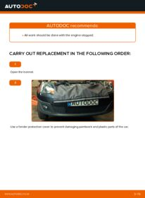 How to carry out replacement: Poly V-Belt on 1.4 TDCi Ford Fiesta V jh jd