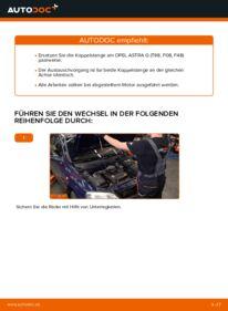 Wie der Wechsel durchführt wird: Koppelstange Opel Astra g f48 1.6 16V (F08, F48) 1.6 (F08, F48) 1.4 16V (F08, F48) tauschen