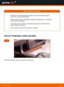 Kā veikt nomaiņu: 2.4 Volvo V70 SW Salona filtrs