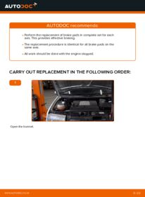 How to carry out replacement: Brake Pads on 1.4 16V Skoda Fabia 6y5
